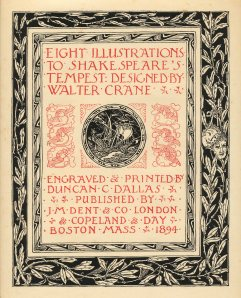 Shakespeare's Tempest Title page