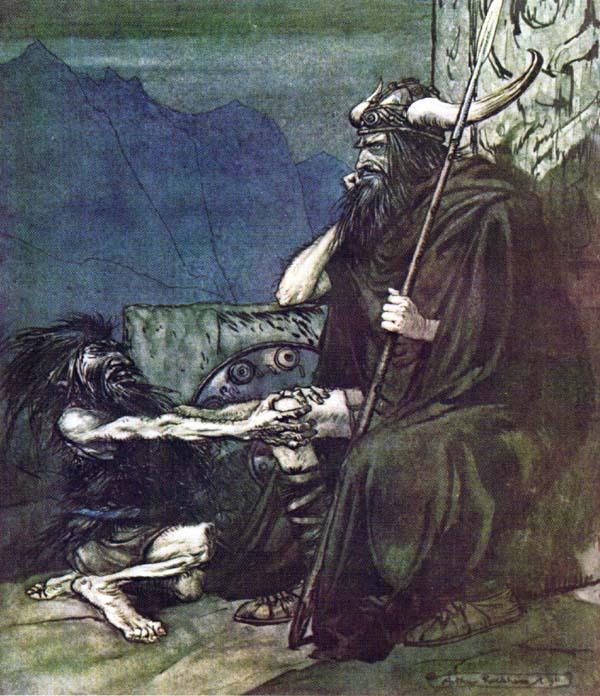 Os nibelungos, por Rackham