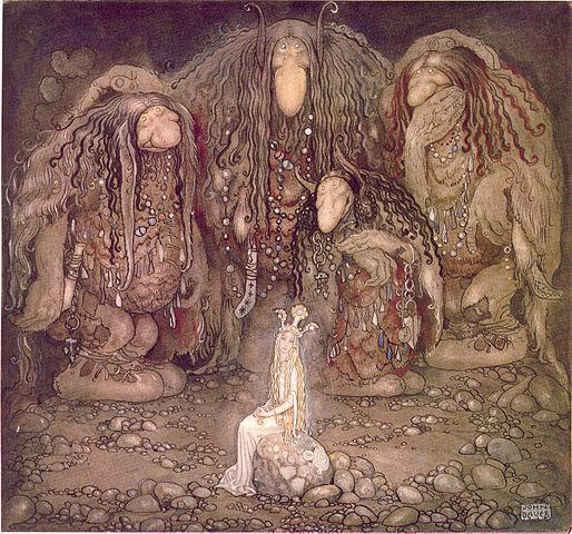 Les trolls et la princesse enlevée, 1915-John_Bauer_1915