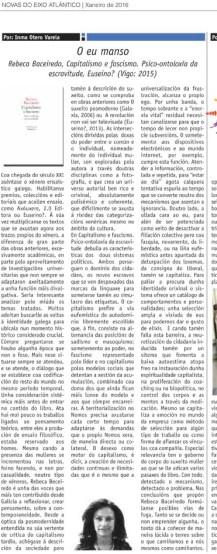 Crítica Inma Otero-O eu manso