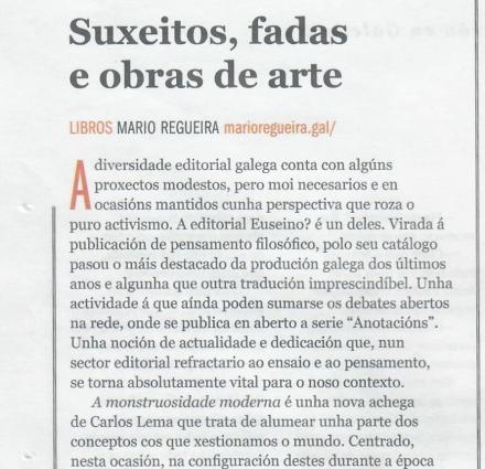 Crítica Mario Regueira-Sermos